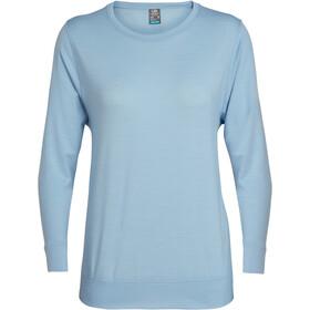 Icebreaker Mira LS Crewe Shirt Women sky
